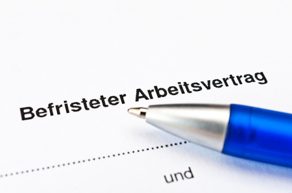 Befristeter Arbeitsvertrag [© Stockfotos-MG - Fotolia.com]